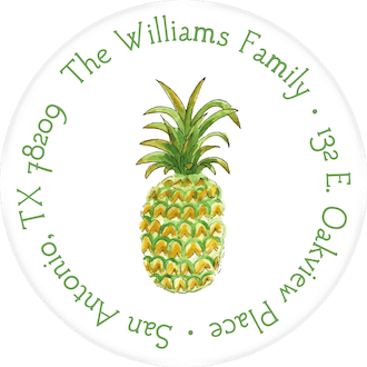 Watercolor Pineapple Return Address Label