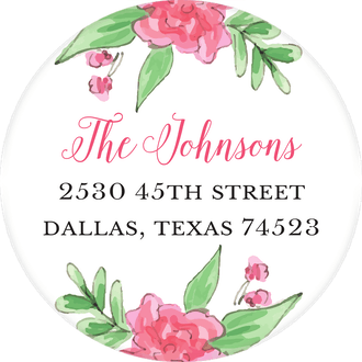 Blush Banner Return Address Label
