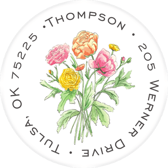 Fresh Bouquet Return Address Label