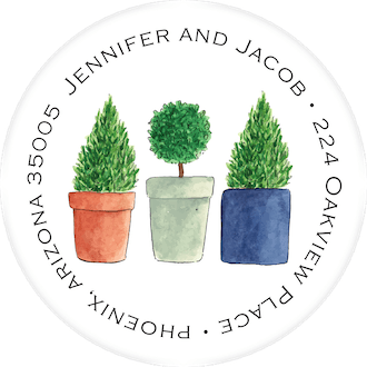 Topiary Return Address Label