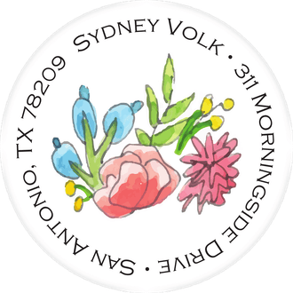 Colorful Spring Florals Return Address Label