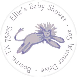 Lilac Jungle Return Address Label