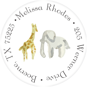 Yellow Safari Return Address Label