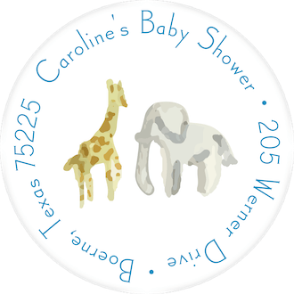 Blue Safari Return Address Label