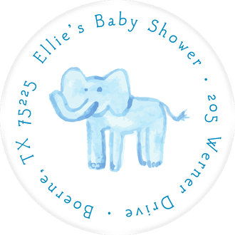 Blue Jungle Return Address Label