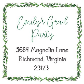 Greenery Hexagon Return Address Label