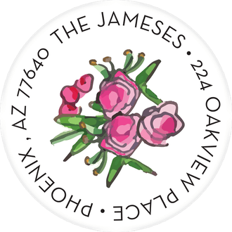 Spring Floral Hexagon Return Address Label