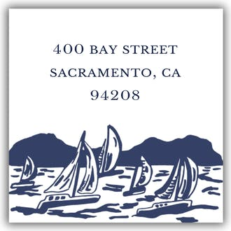 Sailboat Scene Return Address Label