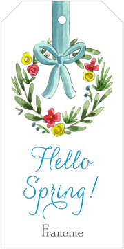 Spring Wreath Hanging Gift Tag