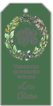 Seasons Wreath Hanging Gift Tag