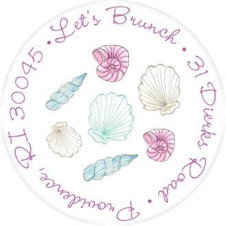 Seashells Return Address Label