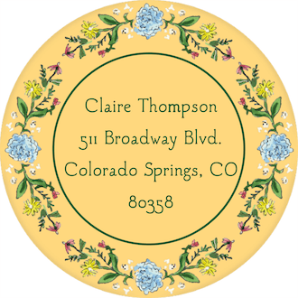 Circle of Spring Florals (Dandelion) Return Address Label