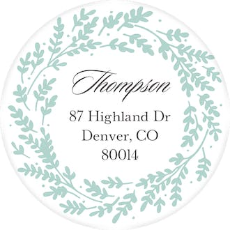 Seafoam Vines Return Address Label