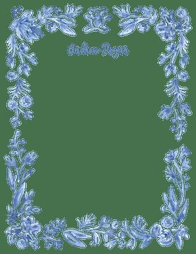 Soft Blue Baby Border Flat Note