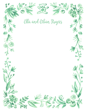 Soft Mint Baby Border Flat Note
