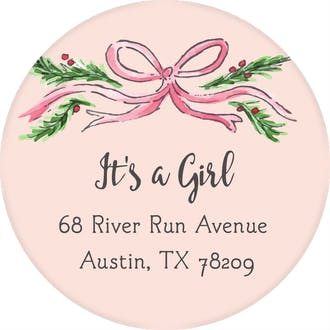 Baby Garland Return Address Label