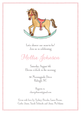 Rocking Horse Invitation