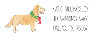 Furry Friends With Wreaths Return Address Sticker - Click Personalize to Choose from Different Animals