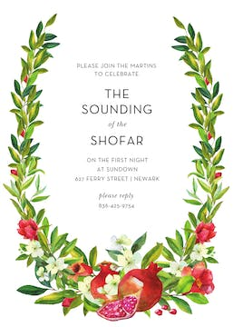 Sweet Branches Invitation