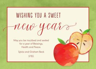 Sweet Apples Invitation