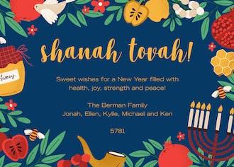 Sweet Shanah Tovah Invitation