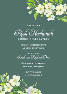 Apple Blossom Invitation