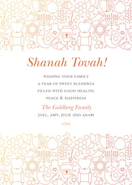 Shining Blessings Invitation