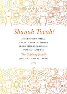 Shining Blessings Invitation