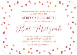 Colorful Confetti Invitation