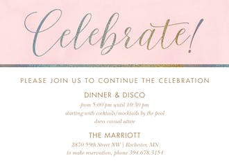 Celebrate! Elegant Foil Invitation