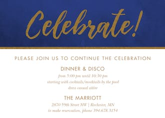 Celebrate! Bold Foil Invitation