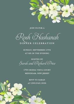 Apple Blossom Invitation