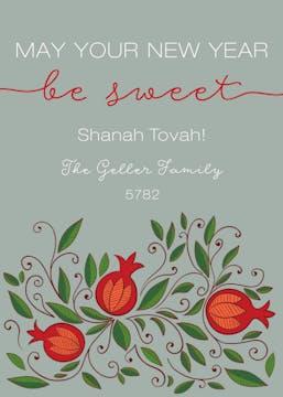 Sweet Sage New Year Greeting Card