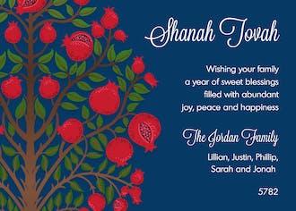Pomegranate Tree Greeting Card