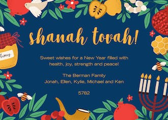 Sweet Shanah Tovah Greeting Card