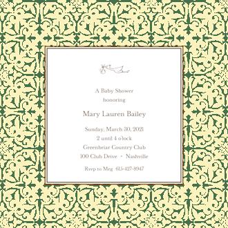 Pretty Pattern Butter Square Invitation