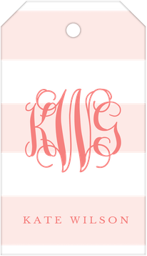 Broad Stripes Blush Hanging Gift Tag