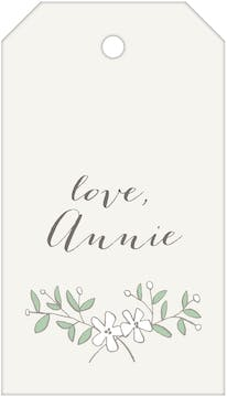White Flowers Hanging Gift Tag