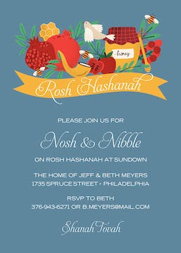 Bountiful Banner Invitation