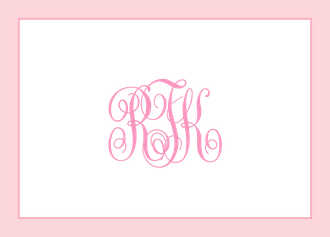 Simple Border - Pink Folded Note
