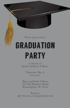 Oxford Cap Graduation Invitation