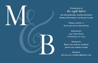 Our Initials Invitation