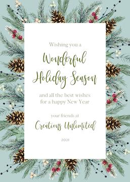 Winter Grove Greetings Holiday Greeting Card