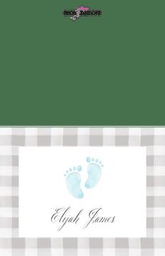 Sweet Feet Baby Boy Folded Note