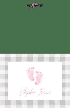 Sweet Feet Baby Girl Folded Note