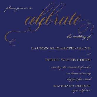 Celebrate Center Stage Foil Invitation