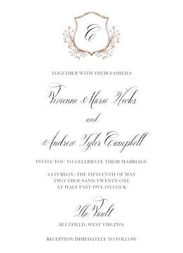 Floral Frame Foil Invitation