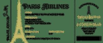 Paris Airline Ticket Invitation