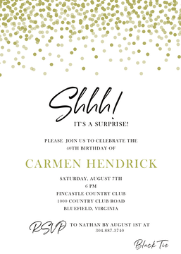 Golden Confetti Invitation