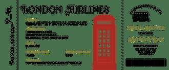 London Air Ticket Invitation
